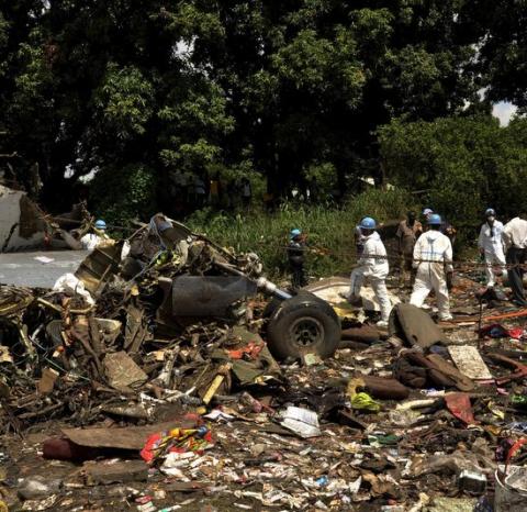 दक्षिण सुडानमा विमान दुर्घटनाः दश जनाको घटनास्थलमै मृत्यु