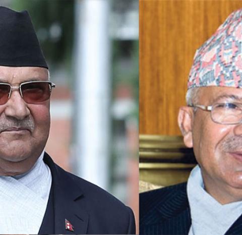 ओली र नेपाल विच भेटवार्ता हुदाहुँदै  विस्नु पौडेलको इन्ट्री
