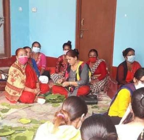 चापाकोट नगरपालिकाले महिलाहरुलाई आत्मनिर्भर बनाउदै